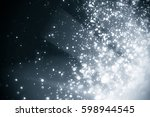 abstract silver background with ... | Shutterstock . vector #598944545
