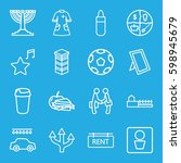 icons icons set. set of 16... | Shutterstock .eps vector #598945679