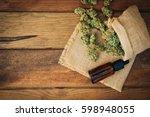 weed  medical marijuana grunge... | Shutterstock . vector #598948055