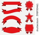 banners and ribbons  labels set.... | Shutterstock .eps vector #598950461