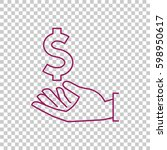 dollar in hand icon vector. | Shutterstock .eps vector #598950617