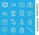 patient icons set. set of 16...   Shutterstock .eps vector #598953041