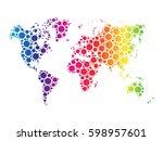 world map wallpaper mosaic of... | Shutterstock .eps vector #598957601