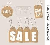 sale inscription design... | Shutterstock .eps vector #598957841