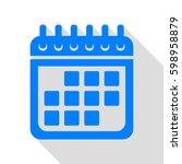 calendar sign illustration....   Shutterstock .eps vector #598958879