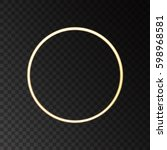 gold neon round frame with... | Shutterstock .eps vector #598968581