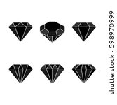 diamond set icon. vector... | Shutterstock .eps vector #598970999