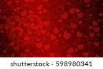 background of big and small... | Shutterstock . vector #598980341