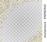 Vector Frame Of Gold Confetti....