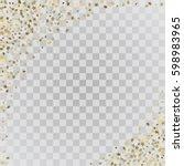 Vector Frame Of Gold Confetti....