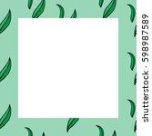 seamless square frame  vector... | Shutterstock .eps vector #598987589