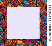 seamless square abstract frame  ... | Shutterstock .eps vector #598987595