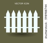 fence vector illustration | Shutterstock .eps vector #598988744