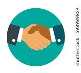 businessmans handshake icon....
