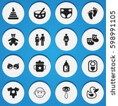 set of 16 editable kid icons....