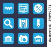 detail icon. set of 9 filled...   Shutterstock .eps vector #598991771