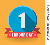 1 may labour day greeting card... | Shutterstock .eps vector #598992641