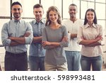 successful business team is... | Shutterstock . vector #598993481