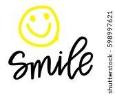smile | Shutterstock .eps vector #598997621