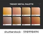 gold  copper and bronze...   Shutterstock .eps vector #598998494