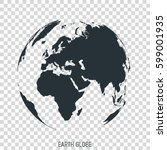 earth globe. view on europe ... | Shutterstock .eps vector #599001935