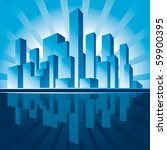 city of skyscrapers background | Shutterstock .eps vector #59900395