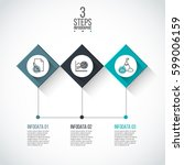 business data visualization.... | Shutterstock .eps vector #599006159