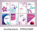 beauty and wellness brochure... | Shutterstock .eps vector #599015489