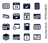 organizer icons set. set of 16... | Shutterstock .eps vector #599015855