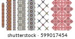 set of traditional folk art... | Shutterstock .eps vector #599017454
