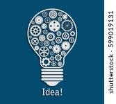 illustration of light bulb made ... | Shutterstock . vector #599019131