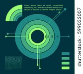 business circle infographic.... | Shutterstock .eps vector #599023007