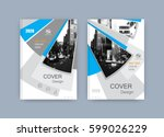 book cover design annual report ... | Shutterstock .eps vector #599026229