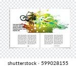 sport brochure layout | Shutterstock .eps vector #599028155