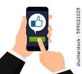 concept of social networks. i... | Shutterstock .eps vector #599031029