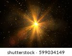 glow light effect. star burst... | Shutterstock . vector #599034149