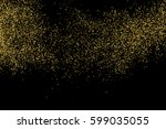 gold glitter texture isolated... | Shutterstock .eps vector #599035055
