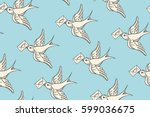 seamless pattern with old... | Shutterstock .eps vector #599036675