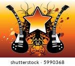 a grunge  rock star banner... | Shutterstock .eps vector #5990368