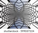 curvilinear structure... | Shutterstock . vector #599037224