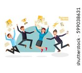 success | Shutterstock .eps vector #599038631