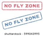 no fly zone text textile seal... | Shutterstock .eps vector #599043995