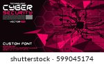 cyber style font with hi tech... | Shutterstock .eps vector #599045174