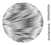 stippled brushed metal round... | Shutterstock .eps vector #599045954