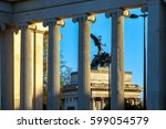 wellington arch seen through... | Shutterstock . vector #599054579