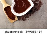 melting chocolate   melted... | Shutterstock . vector #599058419