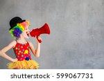 let's celebrate  funny kid... | Shutterstock . vector #599067731