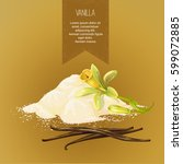 vector composition of vanilla... | Shutterstock .eps vector #599072885