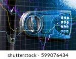stock market chart. business... | Shutterstock . vector #599076434