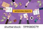 illustration of improving... | Shutterstock .eps vector #599080079